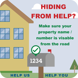 Informing residents to make sure their house number is visable